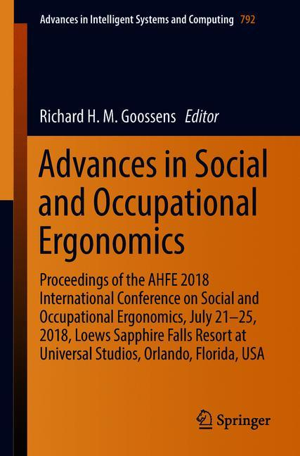 Cover of 'Advances in Social and Occupational Ergonomics'