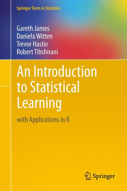 Cover of 'An Introduction to Statistical Learning'