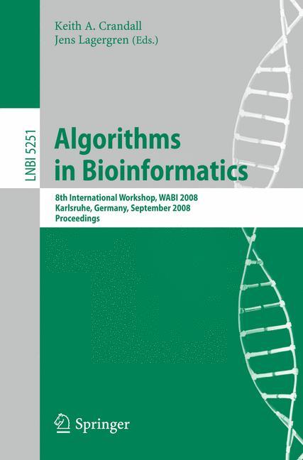 Cover of 'Algorithms in Bioinformatics'