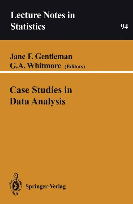 Cover of 'Case Studies in Data Analysis'