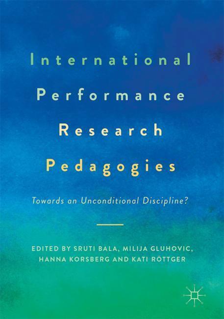 Cover of 'International Performance Research Pedagogies'
