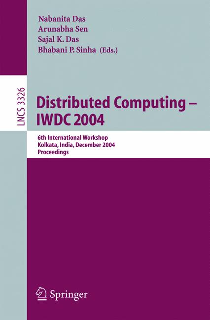 Cover of 'Distributed Computing - IWDC 2004'