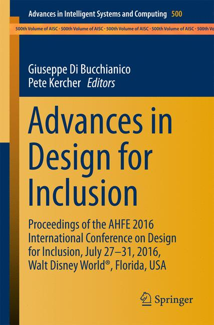 Cover of 'Advances in Design for Inclusion'