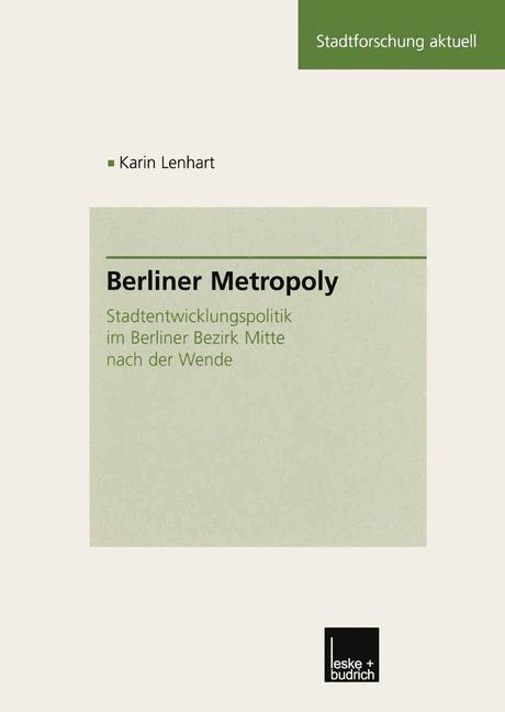 Cover of 'Berliner Metropoly'