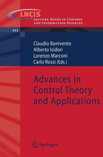 Cover of 'Advances in Control Theory and Applications'