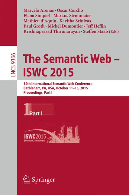 Cover of 'The Semantic Web - ISWC 2015'