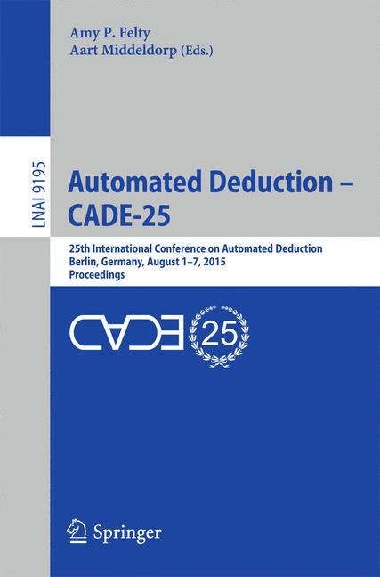 Cover of 'Automated Deduction - CADE-25'