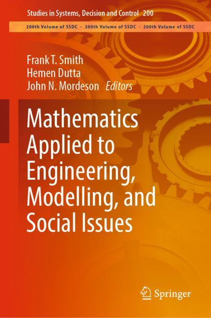 Cover of 'Mathematics Applied to Engineering, Modelling, and Social Issues'