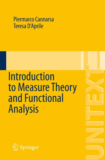 Cover of 'Introduction to Measure Theory and Functional Analysis'