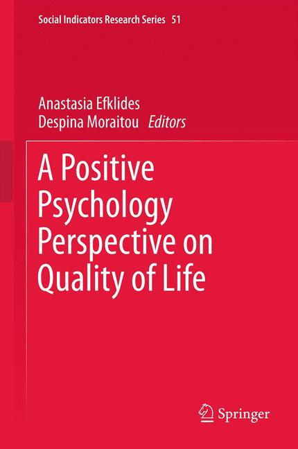 Cover of 'A Positive Psychology Perspective on Quality of Life'