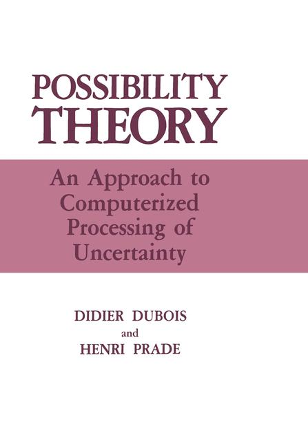 Cover of 'Possibility Theory'