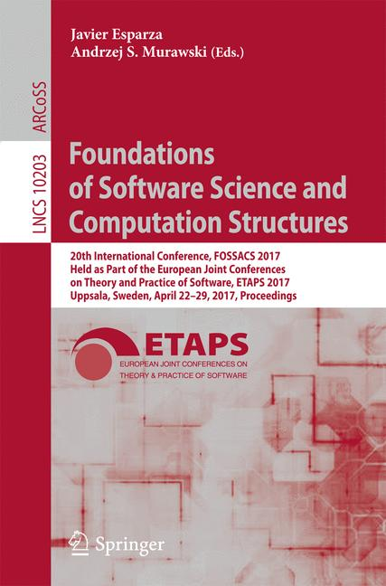 Cover of 'Foundations of Software Science and Computation Structures'