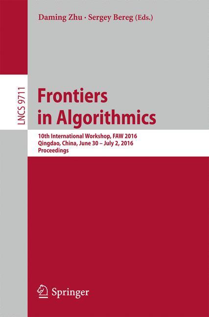 Cover of 'Frontiers in Algorithmics'