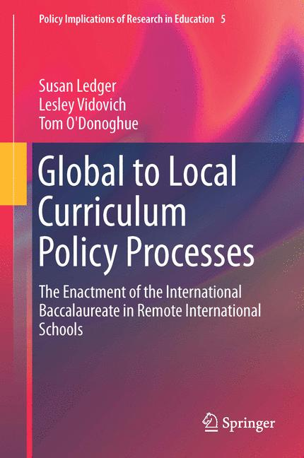 Cover of 'Global to Local Curriculum Policy Processes'