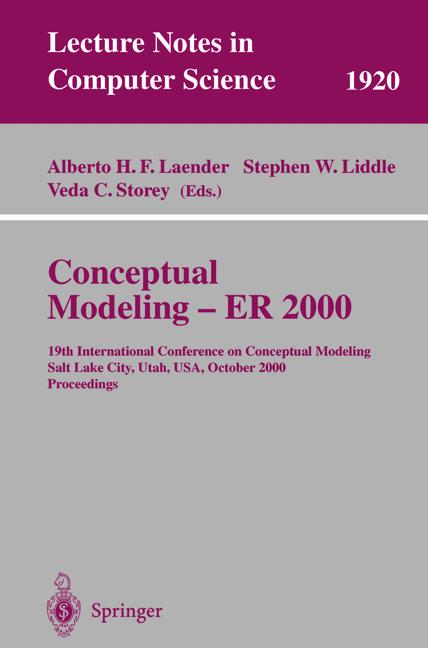 Cover of 'Conceptual Modeling — ER 2000'