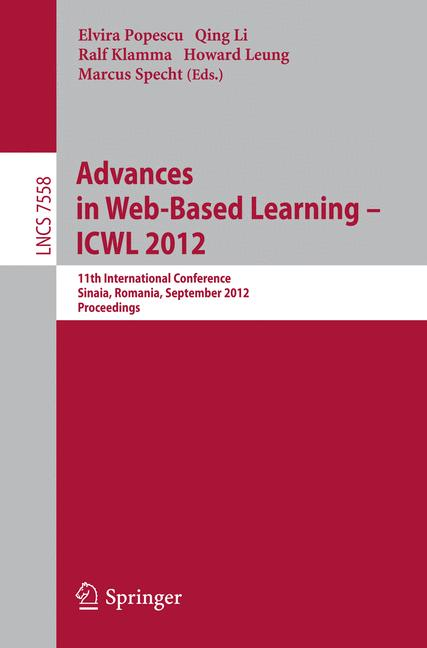 Cover of 'Advances in Web-Based Learning - ICWL 2012'