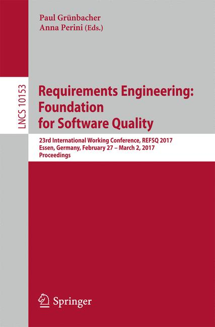 Cover of 'Requirements Engineering: Foundation for Software Quality'