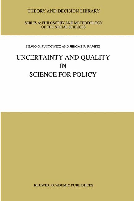 Cover of 'Uncertainty and Quality in Science for Policy'