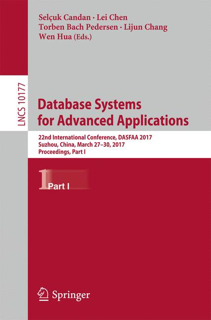 Cover of 'Database Systems for Advanced Applications'