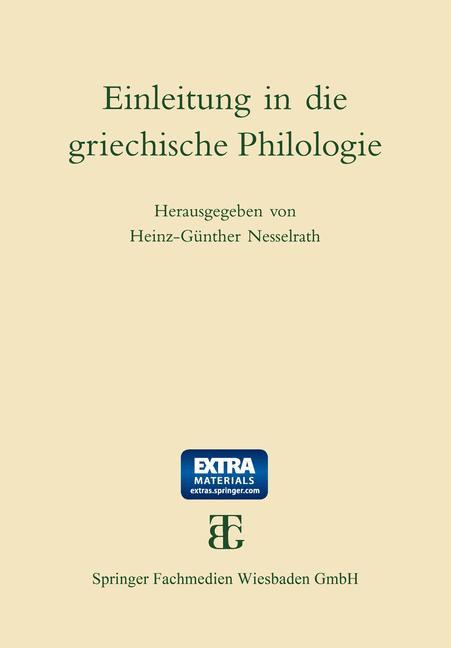 Cover of 'Einleitung in die griechische Philologie'
