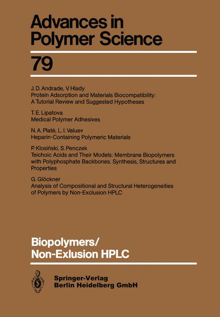 Cover of 'Biopolymers/Non-Exclusion HPLC'