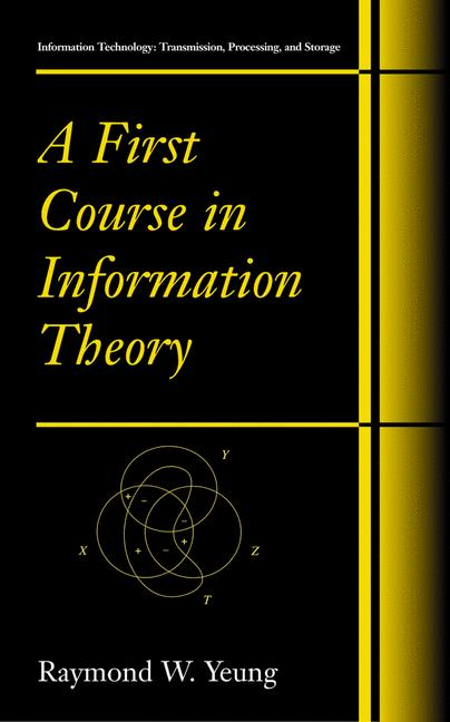 Cover of 'A first course in information theory'