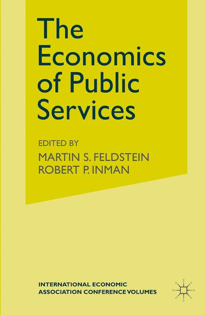 Cover of 'The Economics of Public Services'