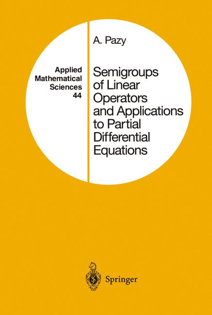 Cover of 'Semigroups of Linear Operators and Applications to Partial Differential Equations'