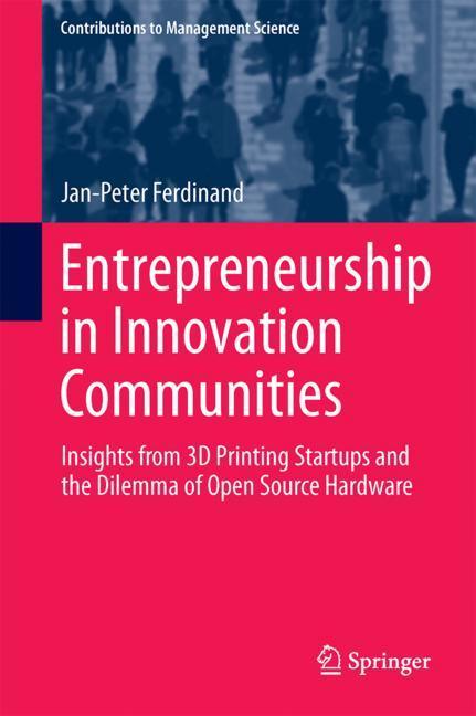 Cover of 'Entrepreneurship in Innovation Communities'