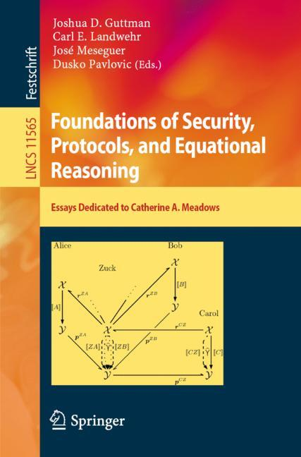 Cover of 'Foundations of Security, Protocols, and Equational Reasoning'