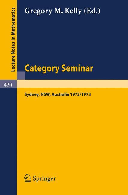 Cover of 'Category Seminar'