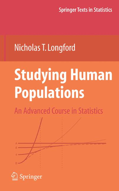Cover of 'Studying Human Populations : An Advanced Course in Statistics'