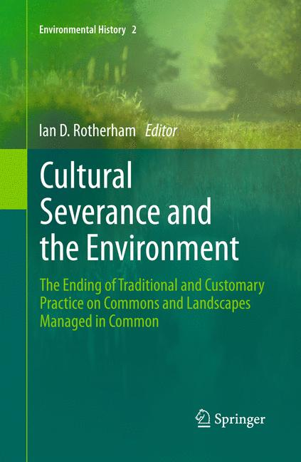 Cover of 'Cultural Severance and the Environment'