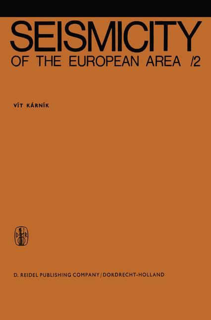 Cover of 'Seismicity of the European Area'