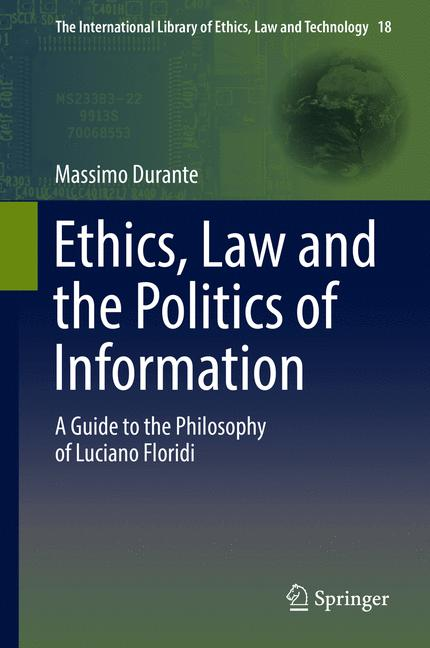 Cover of 'Ethics, Law and the Politics of Information'