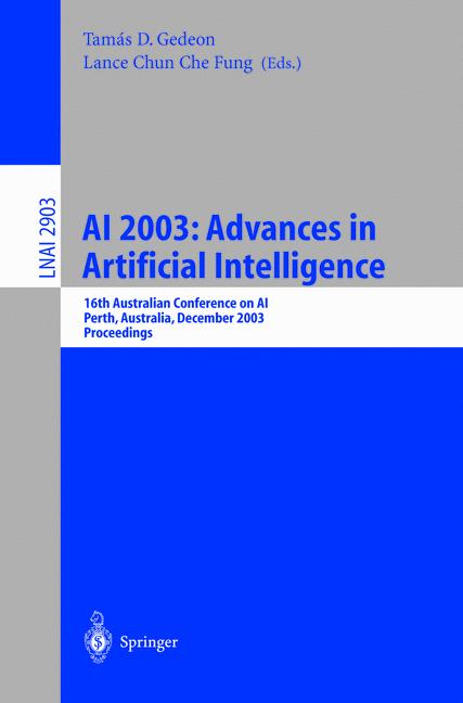 Cover of 'AI 2003: Advances in Artificial Intelligence'