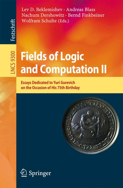 Cover of 'Fields of Logic and Computation II'