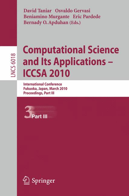 Cover of 'Computational Science and Its Applications – ICCSA 2010'