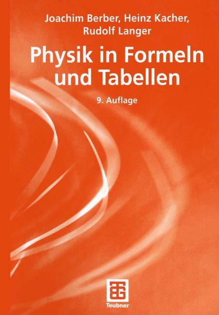 Cover of 'Physik in Formeln und Tabellen'