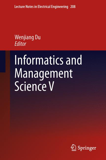 Cover of 'Informatics and Management Science V'
