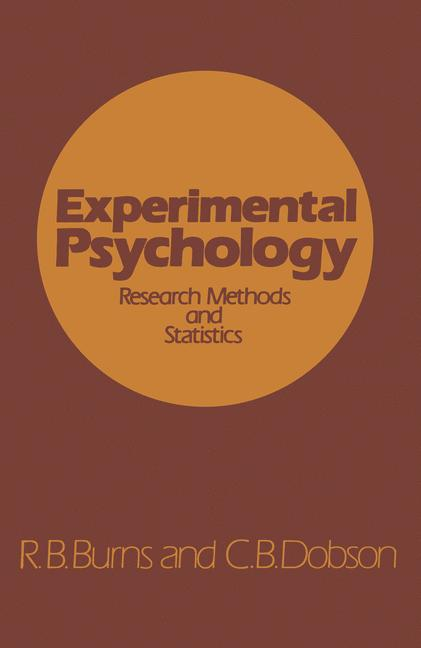 Cover of 'Experimental psychology : research methods and statistics'