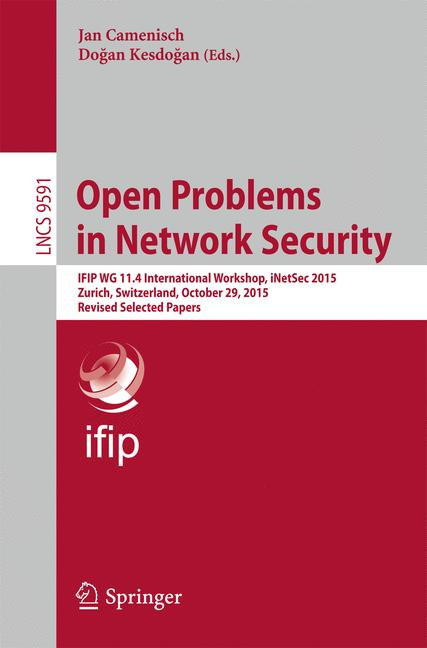 Cover of 'Open Problems in Network Security'