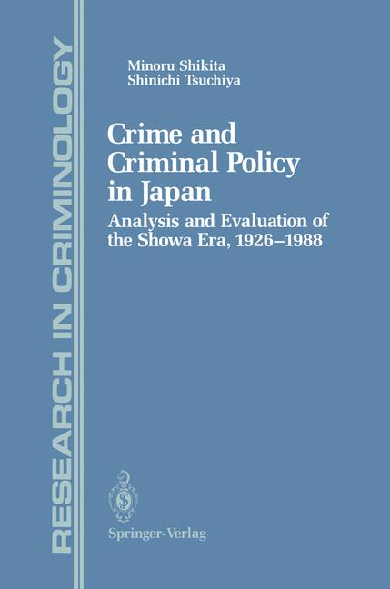 Cover of 'Crime and Criminal Policy in Japan'