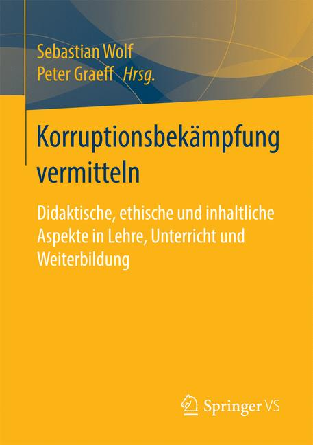 Cover of 'Korruptionsbekämpfung vermitteln'