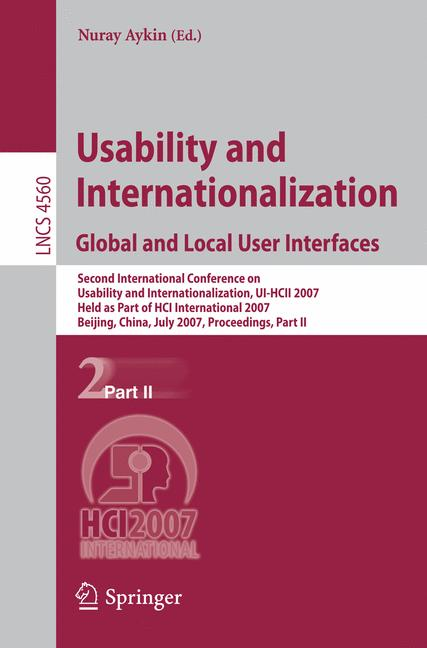 Cover of 'Usability and Internationalization. Global and Local User Interfaces'