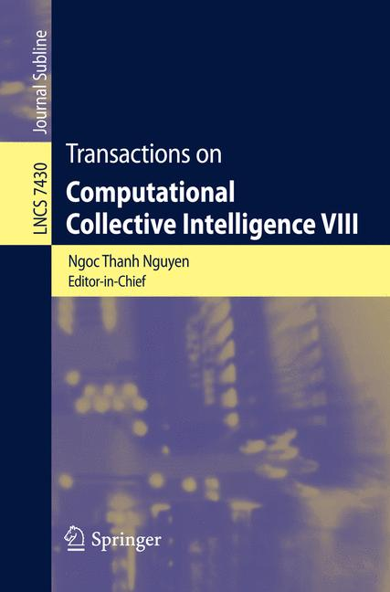 Cover of 'Transactions on Computational Collective Intelligence VIII'