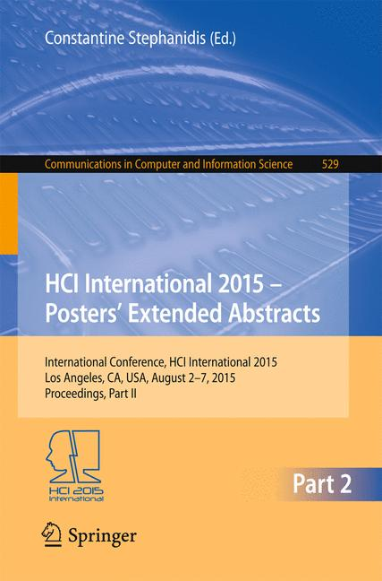 Cover of 'HCI International 2015 - Posters' Extended Abstracts'