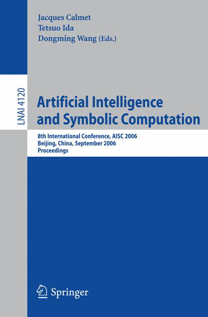 Cover of 'Artificial Intelligence and Symbolic Computation'