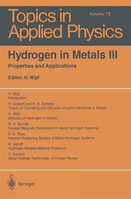 Cover of 'Hydrogen in Metals III'