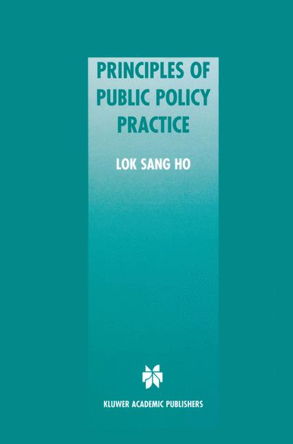 Cover of 'Principles of Public Policy Practice'